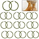 QincLing 20 Pieces Elastic Boot Straps Trouser Twists Leg Ties Blousing Garters with Metal Hooks for Navy Army Air Force