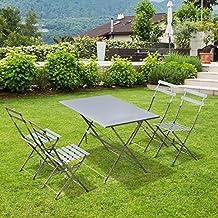 amazon.it: tavoli in ferro da giardino - Tavolo Da Giardino Pieghevole In Ferro
