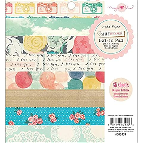 American Crafts Crate Paper Pad 6-inch x 6-inch 3Styleboard