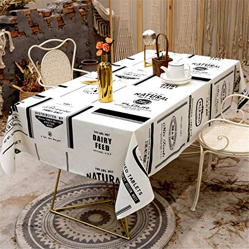 SONGHJ Baumwolle Leinen Tischdecke Wasserdicht Ölbeständig Rechteckig Hochzeit Esszimmer Home Decoration Tischabdeckung Tee Tischdecke A 140x180cm -
