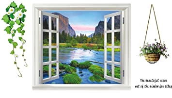 Large D River View Window Film Wall Stickers Office Home - Window stickers for home uk