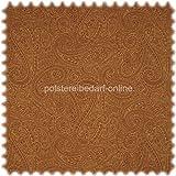 AKTION Möbelstoff mit CRYPTON® Nässeschutz mit klassischem Paisley Muster Braun/Sand