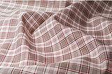 Kariert Rot Leinen & Baumwolle-Mischgewebe Stoff