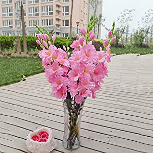 80 Cm Artificial Gladiola Gladiolus Tallo De Flor Home Garden Decor Rosa