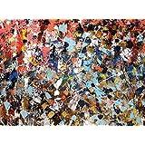 "Pintura mixta. ""Campo de Flores"". Soporte sobre madera. Tamaño: 92 x 66 cm."