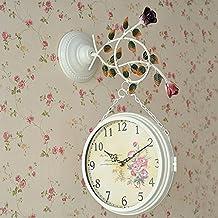EDSH reloj de pared Reloj de pared de doble cara de estilo europeo Reloj moderno minimalista ( Color : H )