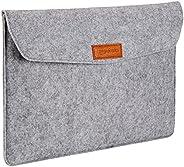 Amazon Basics - Custodia a guaina in feltro, per laptop 15,4 Pollici (39 cm), Colore: Grigio chiaro