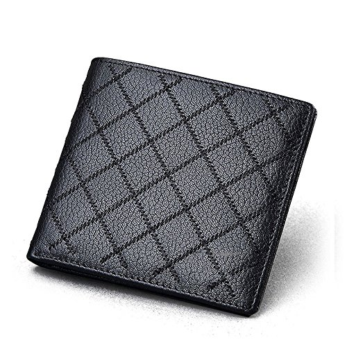 Wallet LCCWallet Male Short Paragraph Leather Cross Section Business Young Money Leisure First Layer Leather Clip Students