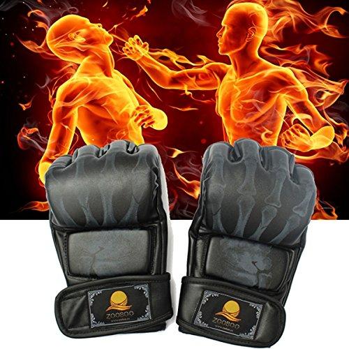 MaMaison007 PU cuoio boxe Guanti MMA UFC Sparring Grappling gratuito combattimento Muay Thai nero