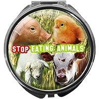 Pillendose/rund/Modell Leony/Veggies/STOP EATING ANIMALS! preisvergleich bei billige-tabletten.eu