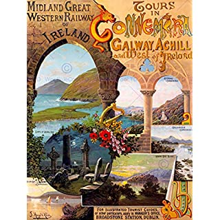 VINTAGE TRAVEL WEST IRELAND GALWAY ACHILL NEW ART PRINT POSTER PICTURE CC5604