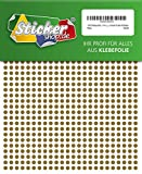 1440 Klebepunkte, 5 mm, gold, aus PVC Folie, wetterfest, Markierungspunkte Kreise Punkte Aufkleber