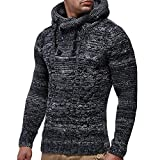 Clearance Sale [M-2XL] ODRDღ Hoodie Männer Sweatshirt Herren Gestrickt Sports Sweater Outwear Sweatjacke Parka Cardigan Lässige Mantel Kapuzenpulli Pullover Langarmshirts Jacke Hooded Anzug Blazer