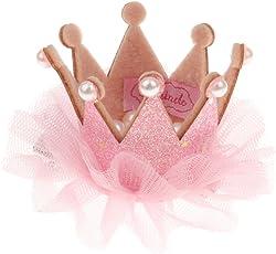 Phenovo Girl Kids Children Lace Wedding Birthday Party Crown Tiara Hair Hoop Hairpin