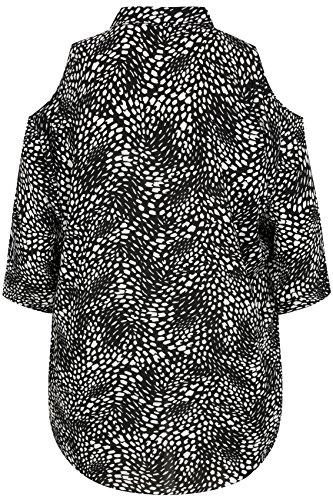 Yours Clothing - Chemisier - Femme Noir