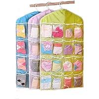 CHESHTA 16 Pocket Mount Hanging Wall Pocket Storage Case Bag - Storage Space Saving Closet Organizer Bag For Socks…