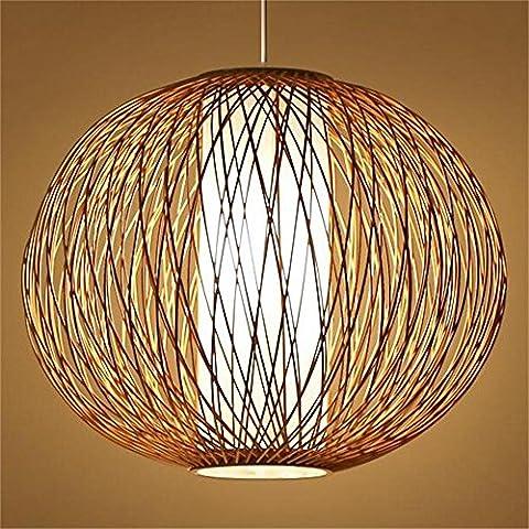 Creativa de bambú tatami de bambú japonés LED de la lámpara sala de té comedor lámpara del dormitorio den [Eficiencia: A +]