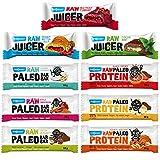 Maxsport Nutrition Roh Paleo Riegel Alle Sorten - Raw Bar Vegan Glutenfrei - 9 Stück