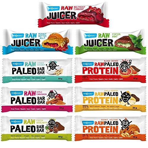 maxsport Nutrition ROH Paleo cerrojo todos los tipos–9Unidades)