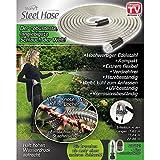 Starlyf® Steel Hose, Gartenschlauch aus Edelstahl in 3 Größen (7,62 m, 15,24 m, 22,86 m) - Original aus TV-Werbung (22.86 m)