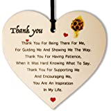 DINGCHUANG Thank you Gifts for Women Men Thank you for Being There for Me Wooden Hanging Heart Gifts for Teacher Love Family