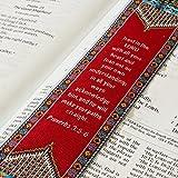 Logos Lesezeichen–Sprüche 3: 5–6–Rot, Christian, Stoff Teppich Lesezeichen