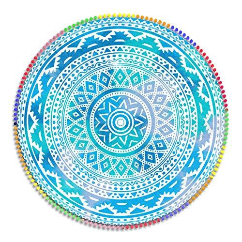 Viana - Toalla Mandala Redondo 160 cm. Microfibra. Mandala Pareo Circular de Suelo.
