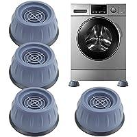Tampon à Pied Machine à Laver, 4 Pièces Patin Anti Vibration Lave Linge Universel pour Lave-Linge et Sèche-linge