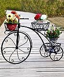 Regal im Wohnzimmer Schlafzimmer Küche Eisen Blumentopf Regal Eisen Fahrrad Blume Rack Europäischen Eisen Blumentopf Regal Wohnzimmer Balkon Blumentöpfe Regal Dekoration Rack YYJRR-Eckregale ( Farbe : Schwarz , größe : 83*55.3*23cm )