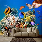 Lqwx Wandbild Deep Sea Tropical Aquarium Meeresschildkröten foto Tapete Tapete für 3d-Wand papel de Parede 3d-Dekoration-120cmX100cm