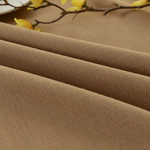 (Tischdecken Hellbraun Esstisch Tuch Baumwolle Leinen Volltonfarbe Wohnzimmer Couchtisch Round Table Western Tischabdeckung KKY-ENTER (größe : 90*150cm))