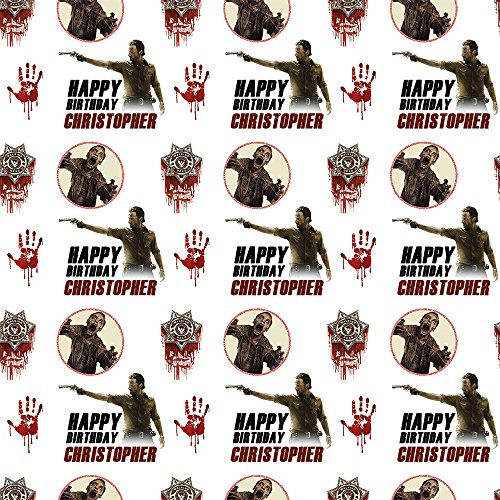 walking-dead-style-personalised-birthday-gift-wrap-with-2-tags-add-a-name