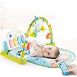 Cable World® Baby Gym Mat with New Projection Feature Pedal Piano Play Mat, Kick and Play Multi-Function (with Remote…