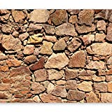 murando - Vlies Fototapete 350x256 cm - Vlies Tapete - Moderne Wanddeko - Design Tapete - Steine Stein Steinoptik 3D Mauer f-A-0496-a-b