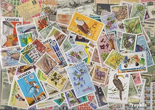 Ouganda 100 différents Timbres (Timbres pour Les collectionneurs) | élégante