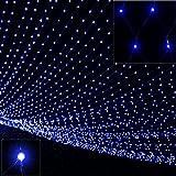 Deuba 100 LED Netzlichterkette Lichterkette Blau | Außen & Innen | Batterie | Timer | 8 Leuchtfunktionen | IP44 - Weihnachtsbeleuchtung Weihnachtsdekoration