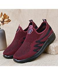 GTVERNH Old Beijing Zapatos De Tela Hembra Madre De Zapatos Deportes De Verano Ocio Pedal Antideslizante Hueco...