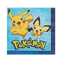 amscam Ln Pokemon Core, Paper, Lunch Napkins, 16-Count