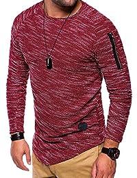 MT Styles Oversize à manches longues T-Shirt manches courtes homme C-9019