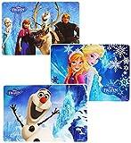 3 Stück _ Unterlagen -  die Eiskönigin - Disney Frozen  - 43 cm * 29 cm - abwischbar - Tischunterlage / Platzset & Tischset - Knetunterlage / Eßunterlage - ..