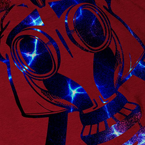 Gas Maske Abstrakt Mode Verkleidung Gesicht Damen S-2XL Muskelshirt | Wellcoda Rot