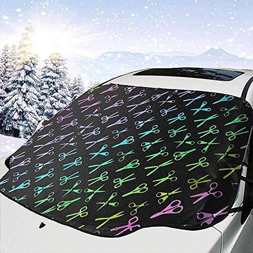 Astridh Color Scissors Friseur Friseur Universalzubehör Windschutzscheiben-Visierabdeckung Faltbar rutschfest für Hitze Sonne Schnee Wasserschutz Alle Seaon-Produkte -