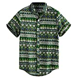 para Viajes Mountain Warehouse Camisa de Manga Corta Hawaiana para Hombre Transpirable Suave y con Estampado elaborado excursiones Ligera picnics y barbacoas