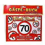 Geburtstag Gästebuch 70 Jahre Verkehrsschild Party Deko Gäste - Buch
