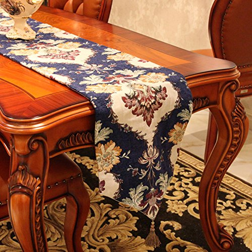 Mode Tischläufer Und Tuch European-style Deluxe Tischfahne Jacquard TV Schrank Cover Tee Tischläufer-A 30x180cm(12x71inch) -