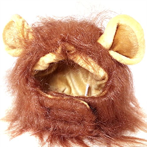 (Rokoo Herbst Winter Haustier Lustige Nette Kostüm Löwe Mähne Perücke Für Hund Katze Halloween Weihnachten Dress Up Mit Ohren Mütze)