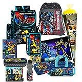 Transformers Roboter 19 Teile Set mit Sticker von Kids4shop Tasche Schulranzen Schulrucksack Rucksack Tornister Federmappe Sporttasche Schultüte 85 cm