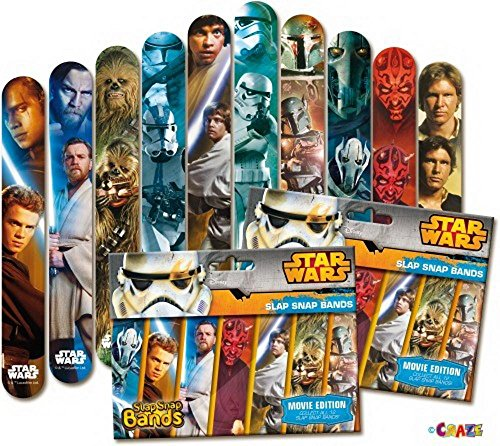 Craze 15003 - Star Wars Movie Edition, Slap Snap Bands Preis bezieht sich auf einen Foilbags - zum Sammeln (Band Star Wars)