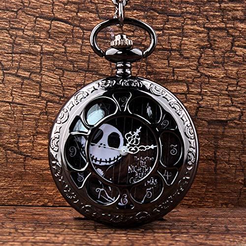 Steampunk Tim Burtons Alptraum Vor Weihnachten Hohl Quarz Taschenuhr Für Jack Skellington Und Sally Männer Frauen Geschenk