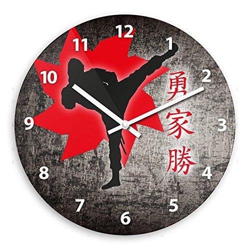 Wanduhr mit Ninja-Motiv für Jungen   Kinderzimmer-Uhr   Kinder-Uhr